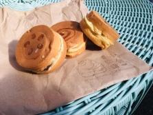 Adzuki Bean, Vanilla Custard and Matcha Wheelcakes | Wheelcake Island