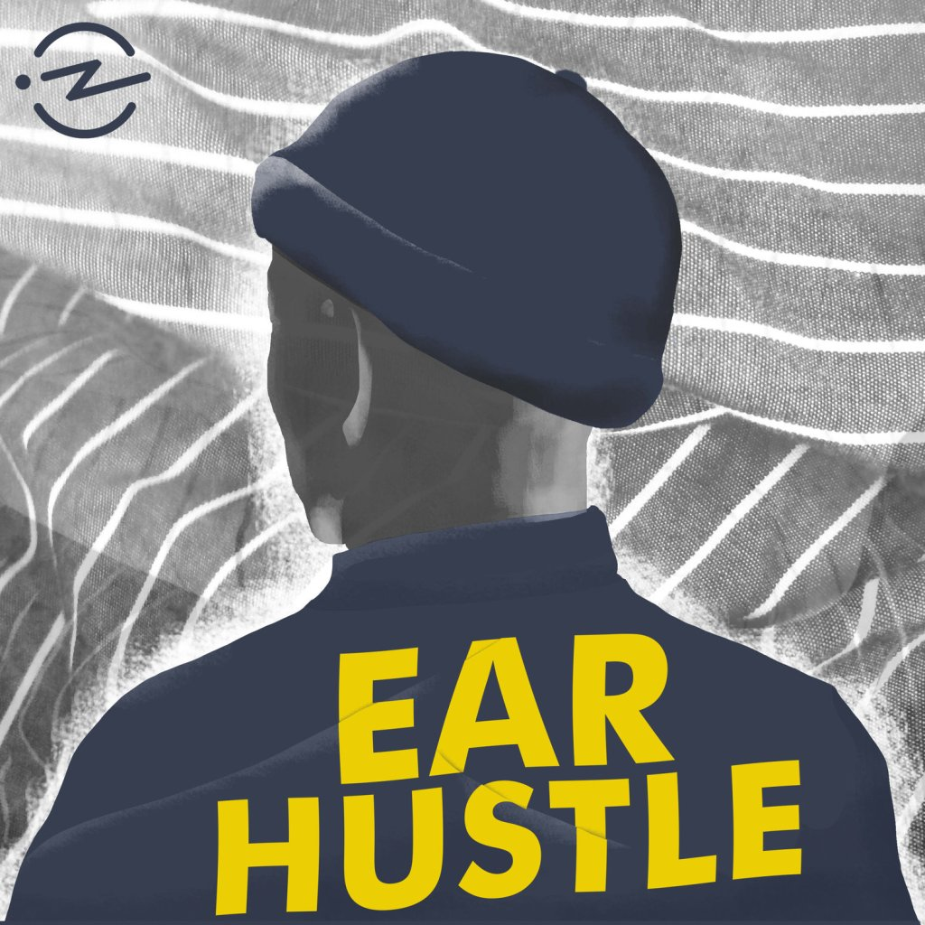 An animation of the back of a man's head, he is wearing a navy beanie hat